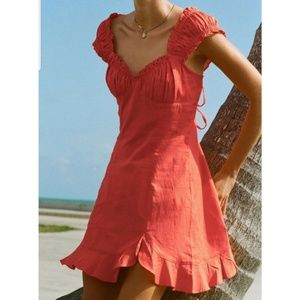 Free People Endless Summer Like a Lady dress coral
